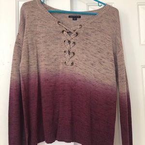 American eagle purple ombré sweater
